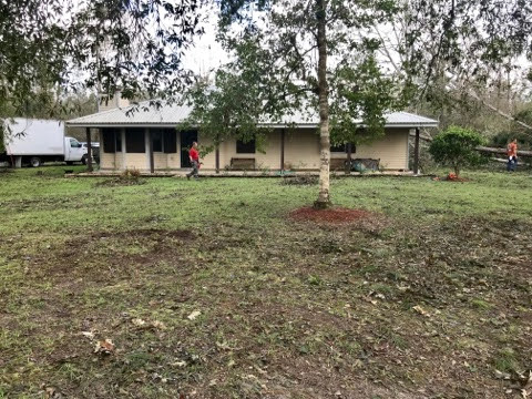 When our team of volunteers left this afternoon after spending the day taking trees out of the yard, the 81 yr old resident of this home was so appreciative. We can only do this because of you!